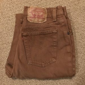 Women's Vintage 501 Levis Jeans in Brown